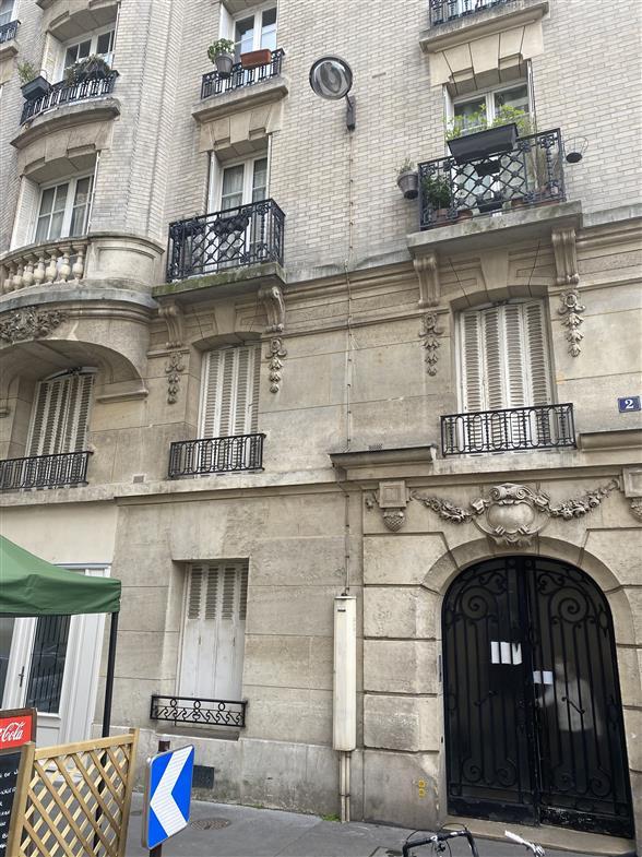 A VENDRE STUDIO PARIS 20ème - Façade immeuble